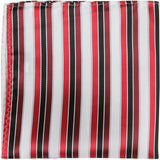 R2 - Red with black pinstripe - Matching Pocket Square