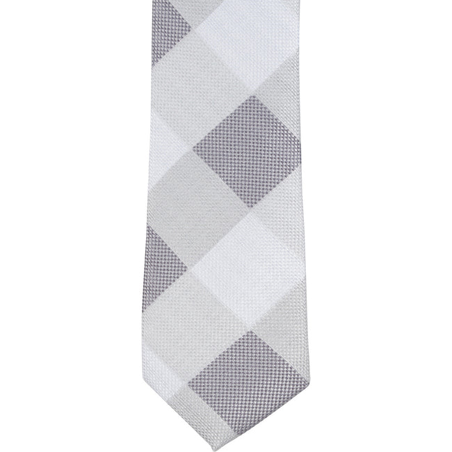 ST5 - Skinny Gray Diamond Plaid