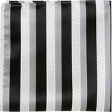 X2 PS - Black, white, and grey stripes - Matching Pocket Square