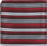 X4 PS - Red with grey, white and black stripes - Matching Pocket Square