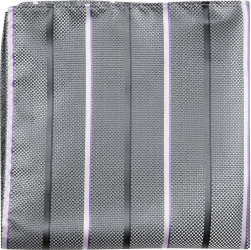 X6 PS - Gray Multi Stripe - Matching Pocket Square