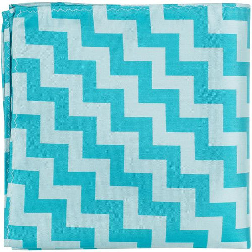 XB32 PS - Blue Chevron - Pocket Square