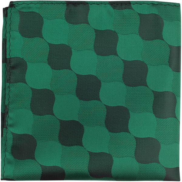 XG28 PS - Multi Green - Matching Pocket Square