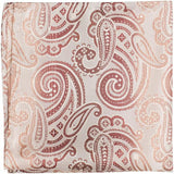XN16 PS - White with gold/copper paisley - Matching Pocket Square