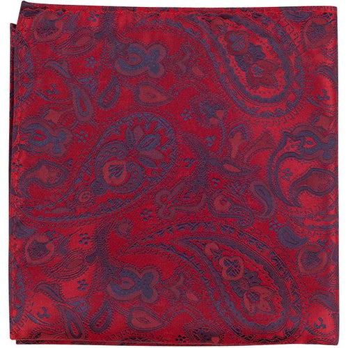XR14 PS - Red/Blue Paisley - Matching Pocket Square