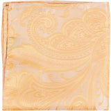 XY12 PS - Gold/yellow paisley - Matching Pocket Square