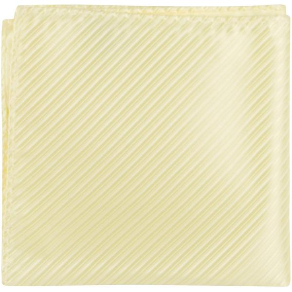 Y1 PS - Pale Yellow Pinstripe - Matching Pocket Square