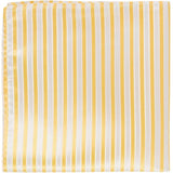 Y3 PS - Yellow with white stripes - Matching Pocket Square