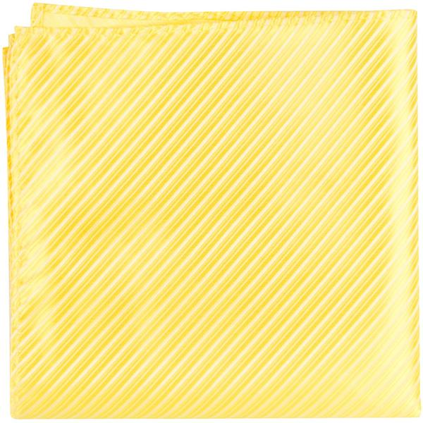 Y4 PS - Canary Yellow Pinstripe - Matching Pocket Square