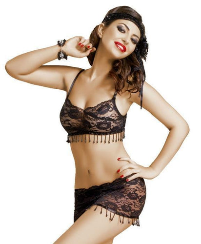 Vanessa Beaded Bra And Skirt Set