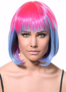 Eliza Pink & Blue Two-Tone Deluxe Bob Wig