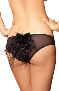Take The Stage Black Feather Panties