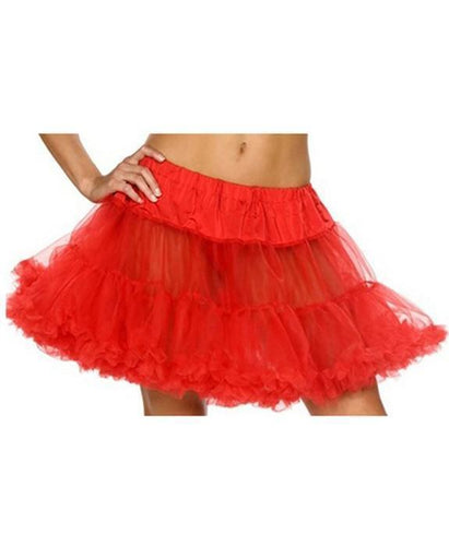 Women's Sexy Red Soft Tulle Lingerie Petticoat
