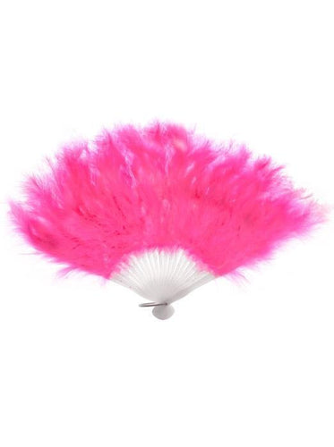 Feather Hand Held Fan in Pink