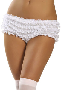 Ruffled White Lace Sexy Booty Shorts Main Image