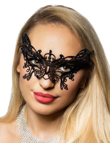 Sexy Black Lace Butterfly Mask Bedroom Accessory Main Image
