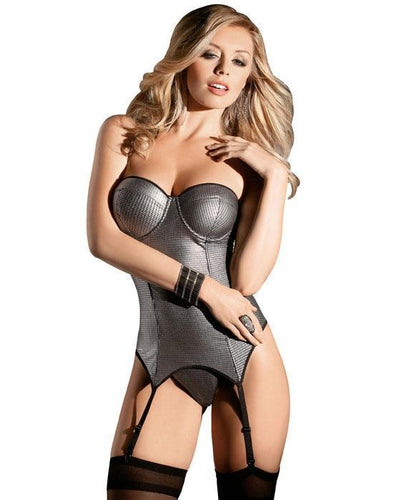 Silver Radiance Lingerie Bustier