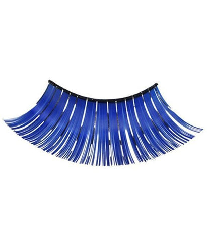 Extra Long Tinsel Eyelashes in Blue