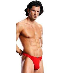 Lycra Men's Thong in Red
