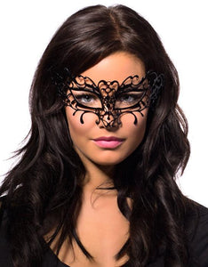 Filigree Deluxe Black Metal Masquerade Mask
