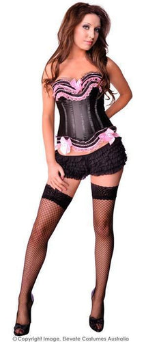 Lola Love Corset - Black and Pink