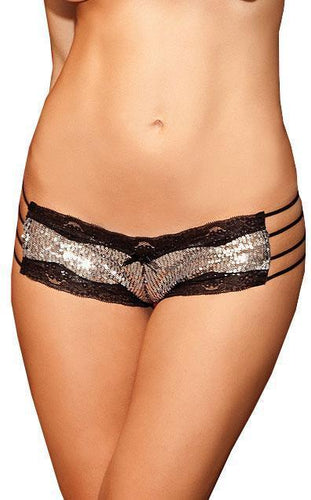 Foil Flashin' Silver Sequined Panties