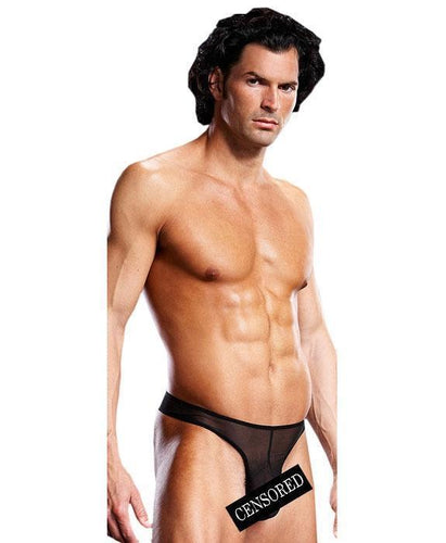 Mesh Men's G-String Lingerie - Black