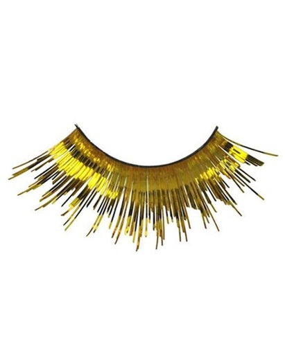 Tinsel Eyelashes in Metallic Gold