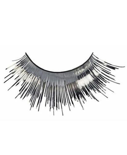 Tinsel Eyelashes in Metallic Silver