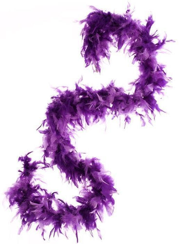 Feather Boa in Purple - Two Tone