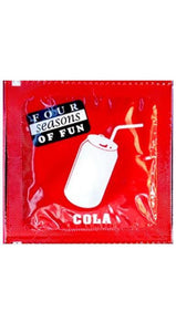 Cola Flavoured Four Seasons Lubricated Latex Condom