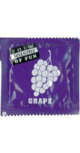 Grape Flavoured Four Seasons Lubricated Latex Condom