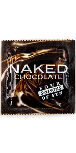 Naked Chocolate Flavoured Four Seasons Lubricated Latex Condom