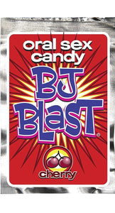 Novelty Cherry Flavoured BJ Blast Popping Candy