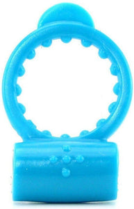 Neon Blue Vibrating Cock Ring Main Image