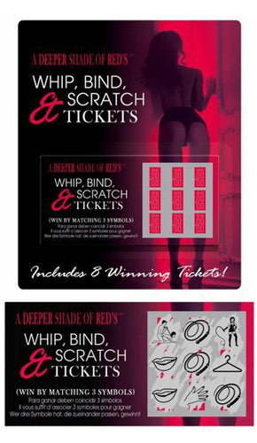Whip Bind and Scratch Sex Tickets For Adult's