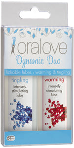 Doc Johnson Dynamic Duo Oralove Warming and Tingling Lubricants - Main Image