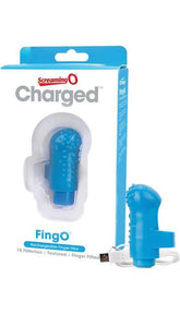 Screaming O Blue FingO Rechargeable Finger Vibe Main Image