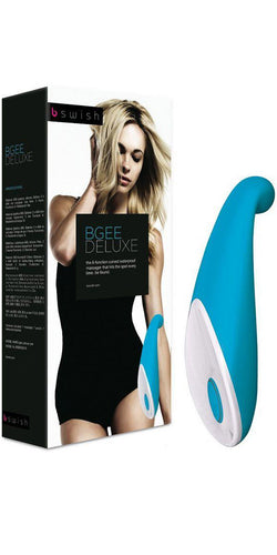 Teal Blue BGee Deluxe Clitoral Stimulating Sex Toy - Main Image
