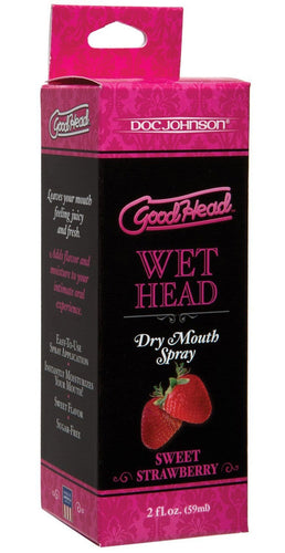 GoodHead Sweet Strawberry Dry Mouth Oral Sex Spray