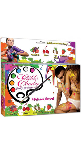Adult's Erotic 4 Pack of Flavoured Edible Body Paints