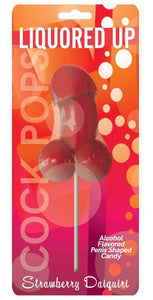 Liquored Up Strawberry Daiquiri Alcohol Flavoured Penis Shaped Lolly Pop Candy Main Image