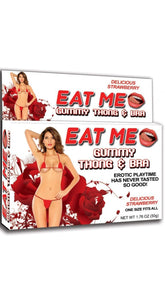 Strawberry Flavour Edible Gummy Bra and Thong Set for Women