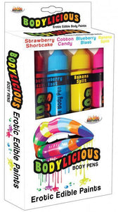Erotic 4 Pack Of Flavoured Edible Body Paints for Adults Main Image