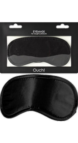 Adult's Soft Black Satin Eye Mask Accessory Main Image