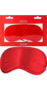 Adult's Soft Red Satin Eye Mask Accessory Main Image