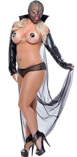 Kinky Plus Size Vampire Lingerie Costume for Women Front View