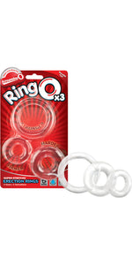 Screaming O RingO 3 Pack of Clear Cock Rings - Main Image