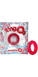 Red Screaming O Stretchy Silicone Cock Ring - Main Image
