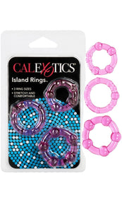 3 Pack Assorted Pink Silicone Cock Rings Main Image